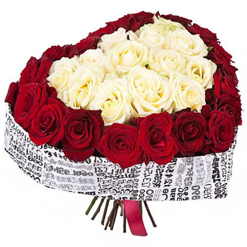 Фото товара 51 троянда серце