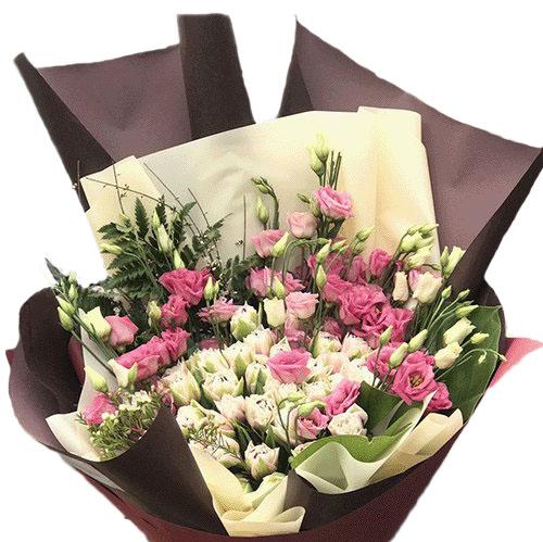 Фото товара Кущова троянда з еустомою
