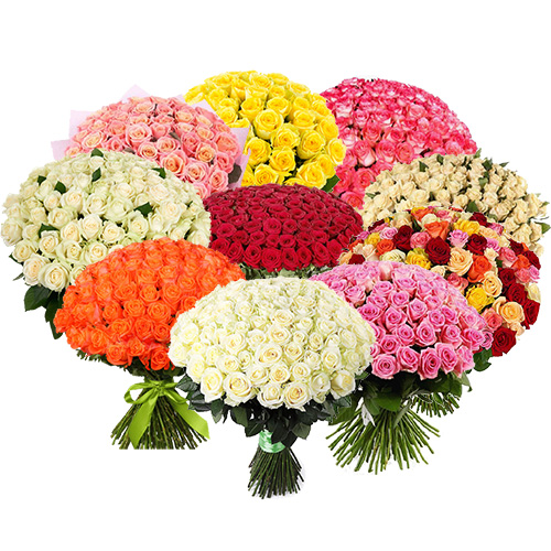 Фото товара Букет 1001 троянда різних сортів
