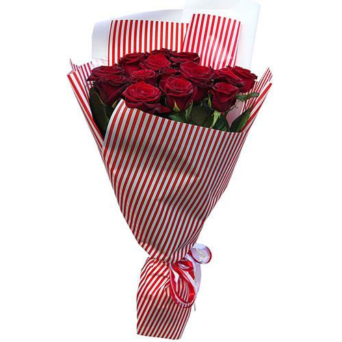 Фото товара 15 червоних троянд