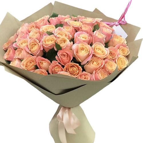 """Фото товара 51 троянда """"Міс Піггі"""""""
