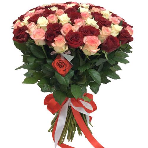 "Фото товара 101 троянда ""Рожева перлина"""