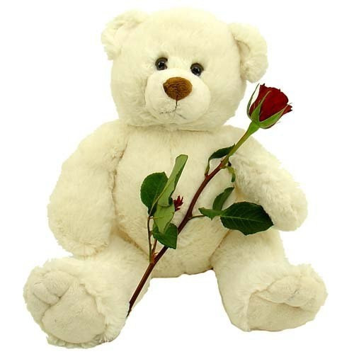 Фото товара Ведмедик із трояндою