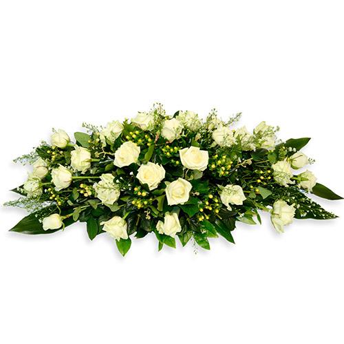 Фото товара Ікебана з білих троянд