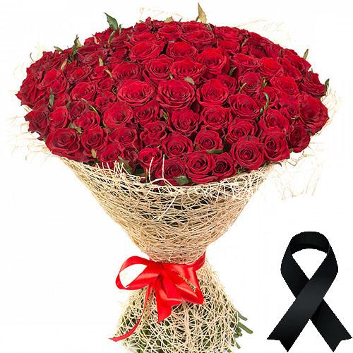 Фото товара 100 червоних троянд