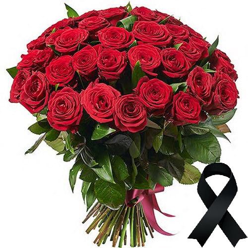 Фото товара 50 червоних троянд